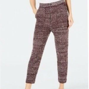 NEW Free People Cozy Knit Trousers Deep Red Pants